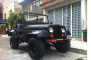 jeep wrangler clasico en renta negro