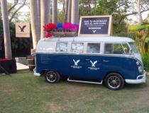Combi azul 1960's clasica en renta para eventos, activaciones, btl, filmaciones, publicidad, bodas y XV años, alquiler,elsa benitez sears