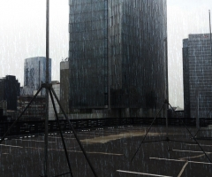 Efecto de lluvia artificial - Rain special effect in Mexico City.