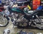 motocicleta chopper modificada en renta