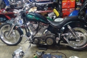motocicleta chopper modificada en renta