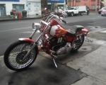 motocicleta harley davidson con flamas en renta