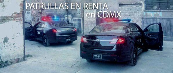 Alquiler de patrullas para cine, filmacion, grabaciones en la Ciudad de México.