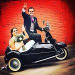 Renta de Motocicletas Vespa con sidecar para bodas, eventos y filmaciones